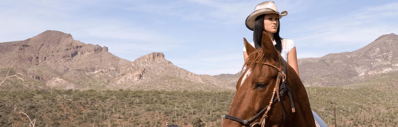 Arizona resort horseback riding in the southwestern desert