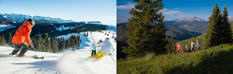 Man Skiing Down Snowy Mountain