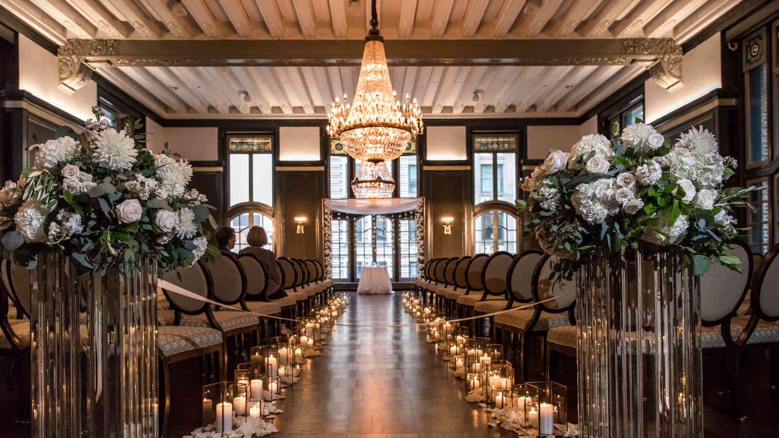 wedding set-up in Madison Ballroom
