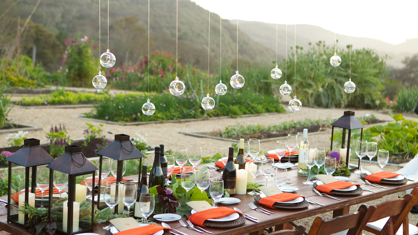 Carmel Valley Ranch_Events_Organic Garden table setup