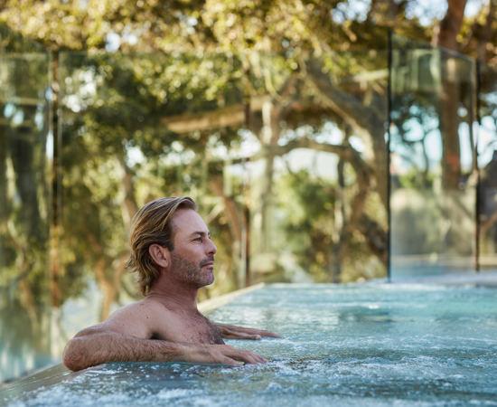 Carmel Valley Ranch_Lifestyle_male_Infinity Hot Tub_3641_GJ
