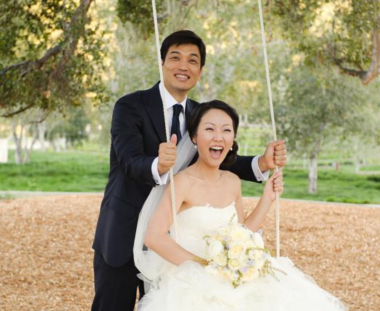 Carmel Valley Ranch_Weddings_Swing_wedding couple on swing