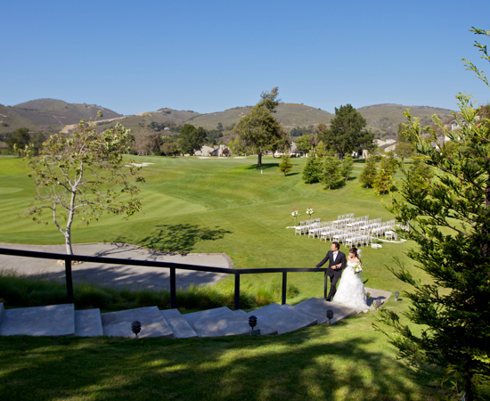 Carmel Valley Ranch_Weddings_Valley View lawn steps to Clubhouse