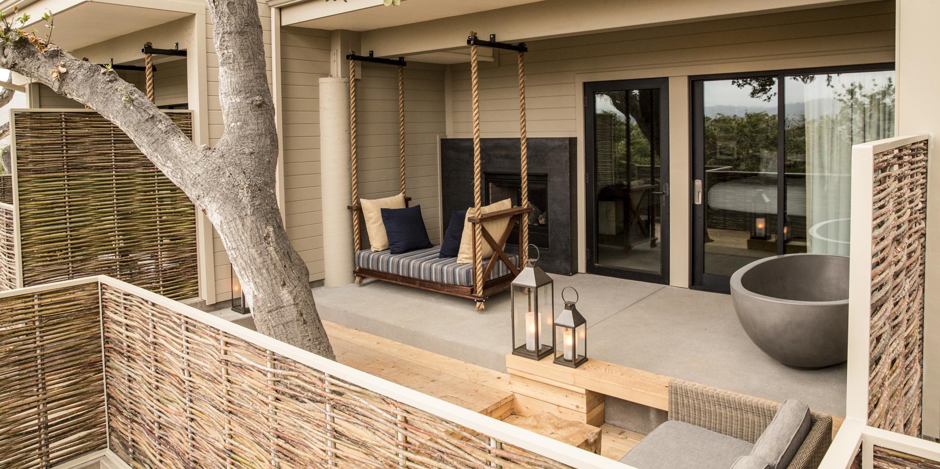 Carmel Valley Ranch_Accommodations_Oak Grove Studio2_decktub