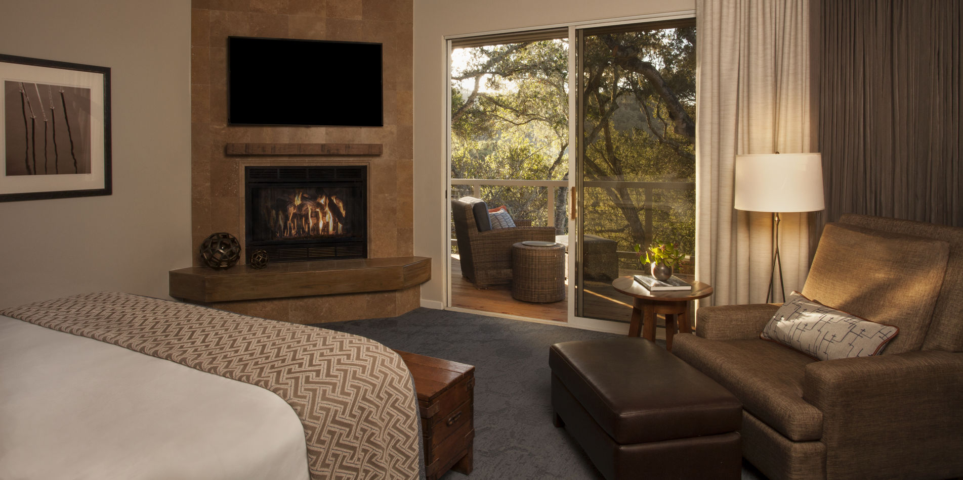 Carmel Valley Ranch_Accommodations_Suite_Ranch_Bedroom_Bed_6380_BM