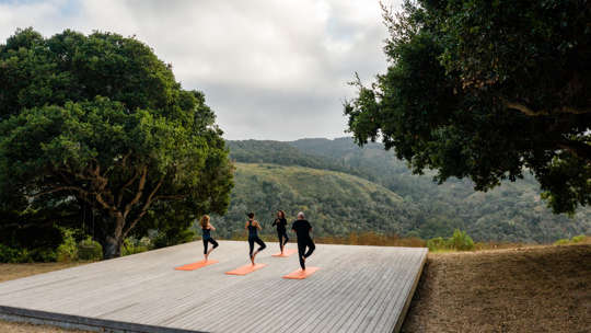 Carmel Valley Ranch_Activities_Yoga Platform_Drone_264_SRusso