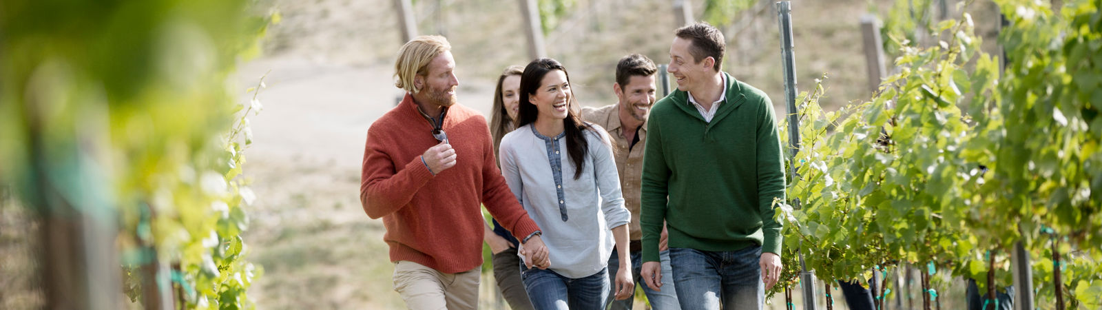 Carmel Valley Ranch_Lifestyle_vineyard walk with friends horizontal