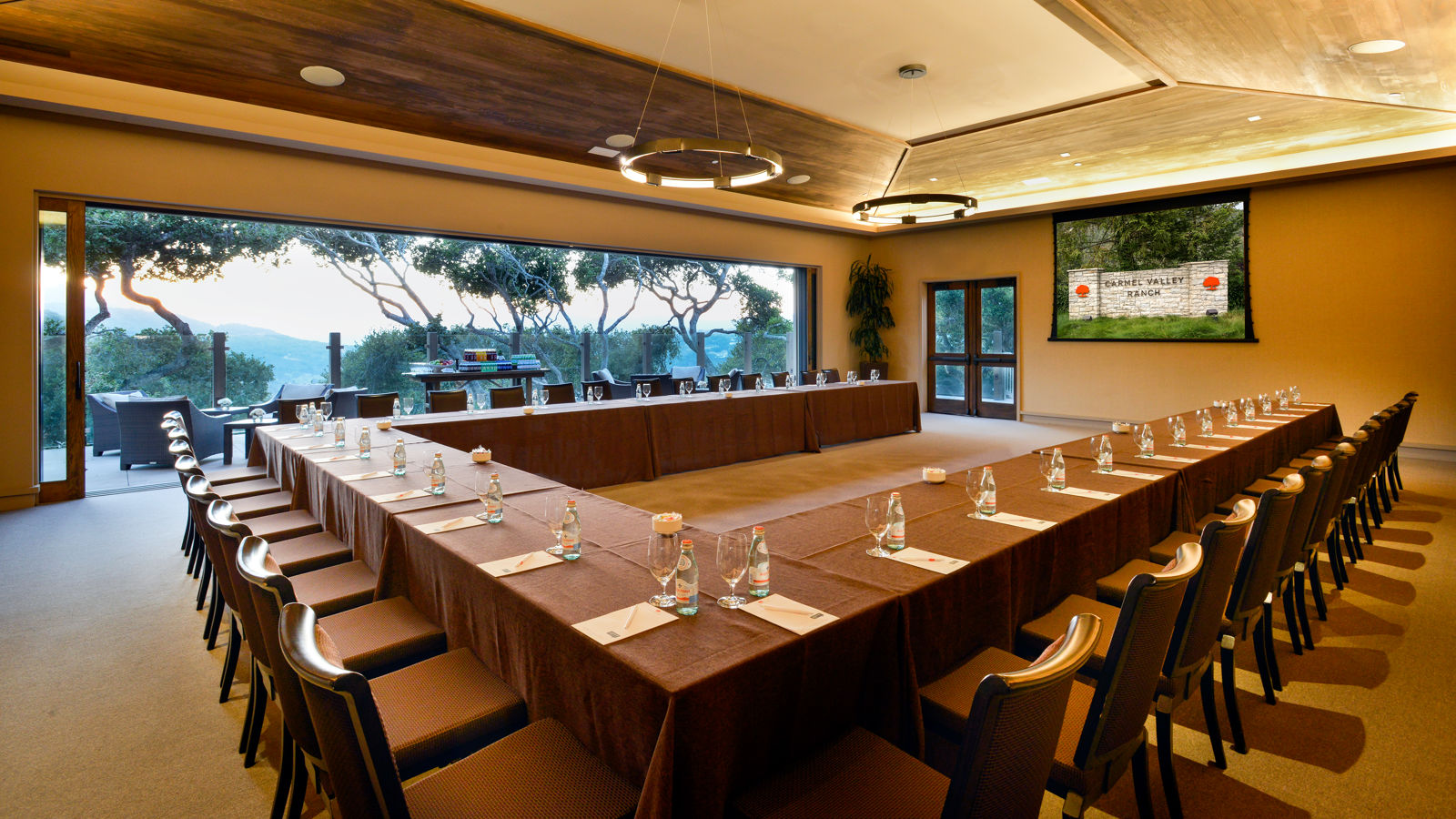 Carmel Valley Ranch_Meetings_Vintner Room U-shape facing terrace