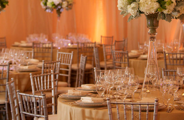 Carmel Valley Ranch_Weddings_Redwood Ballroom table setting