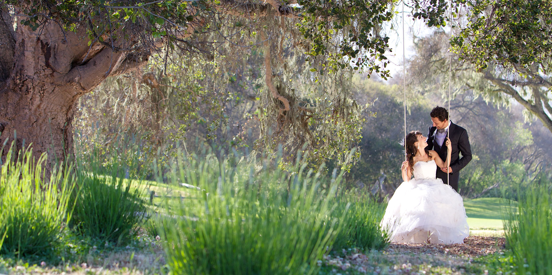 Carmel Valley Ranch_Weddings_Swing_panoramic