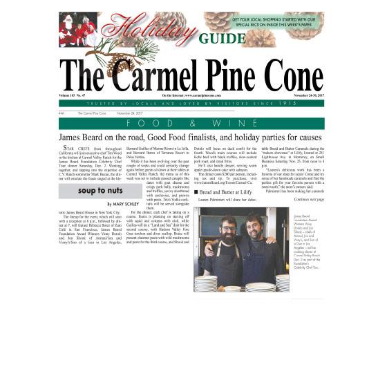 CARMEL PINE CONE - NOVEMBER 2017