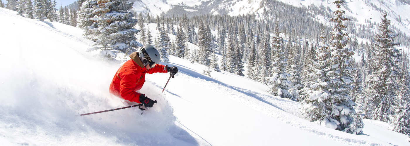 Skiing in Snowmass, Colorado