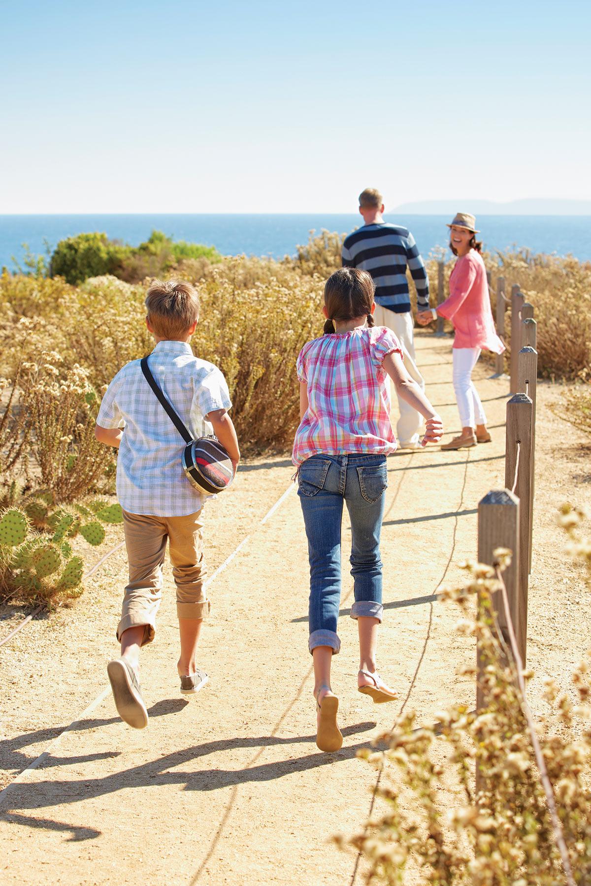 Kids hiking at Terranea Resort