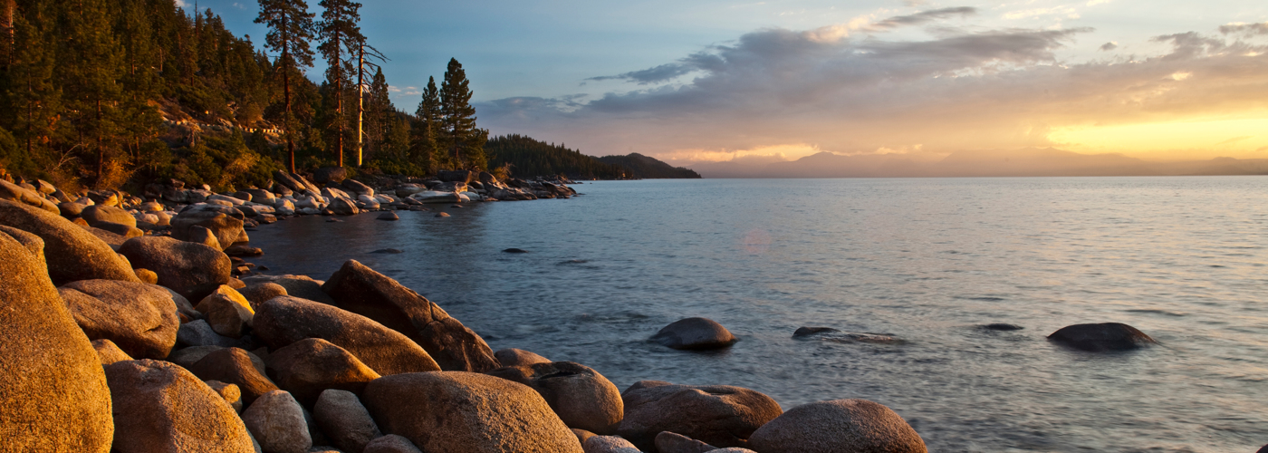 Resort at Squaw Creek_Recreation_Lake Tahoe Rocky Shoreline Sunset