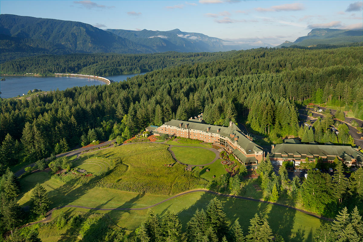 Skamania Lodge Exterior Aerial View