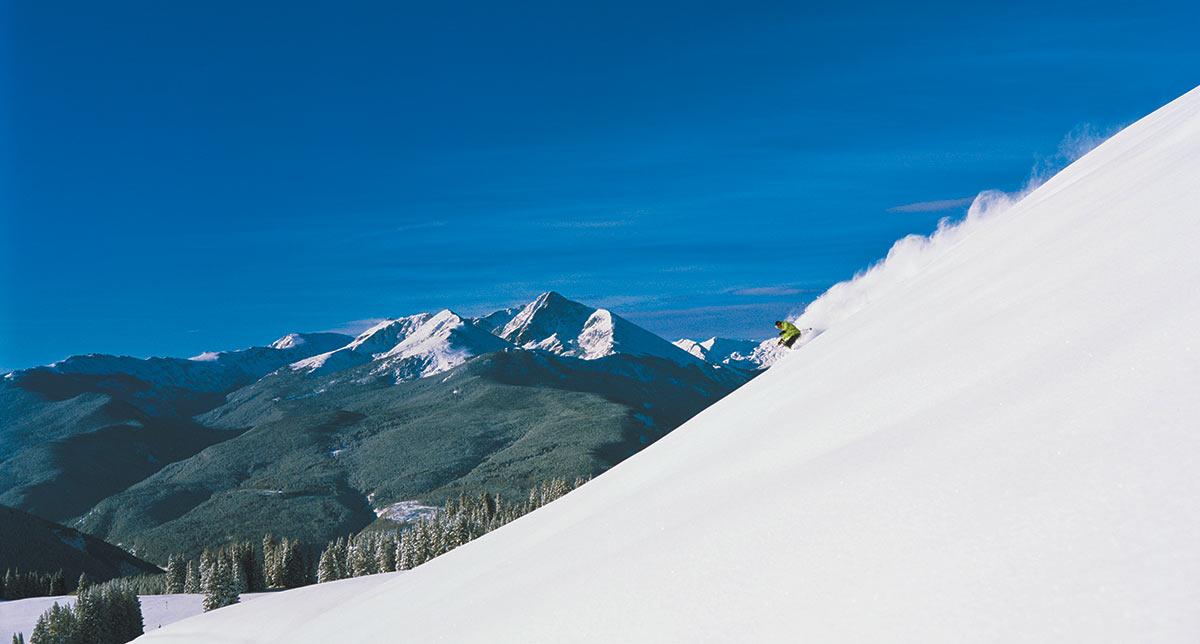 Skiing the Vail Back Bowls