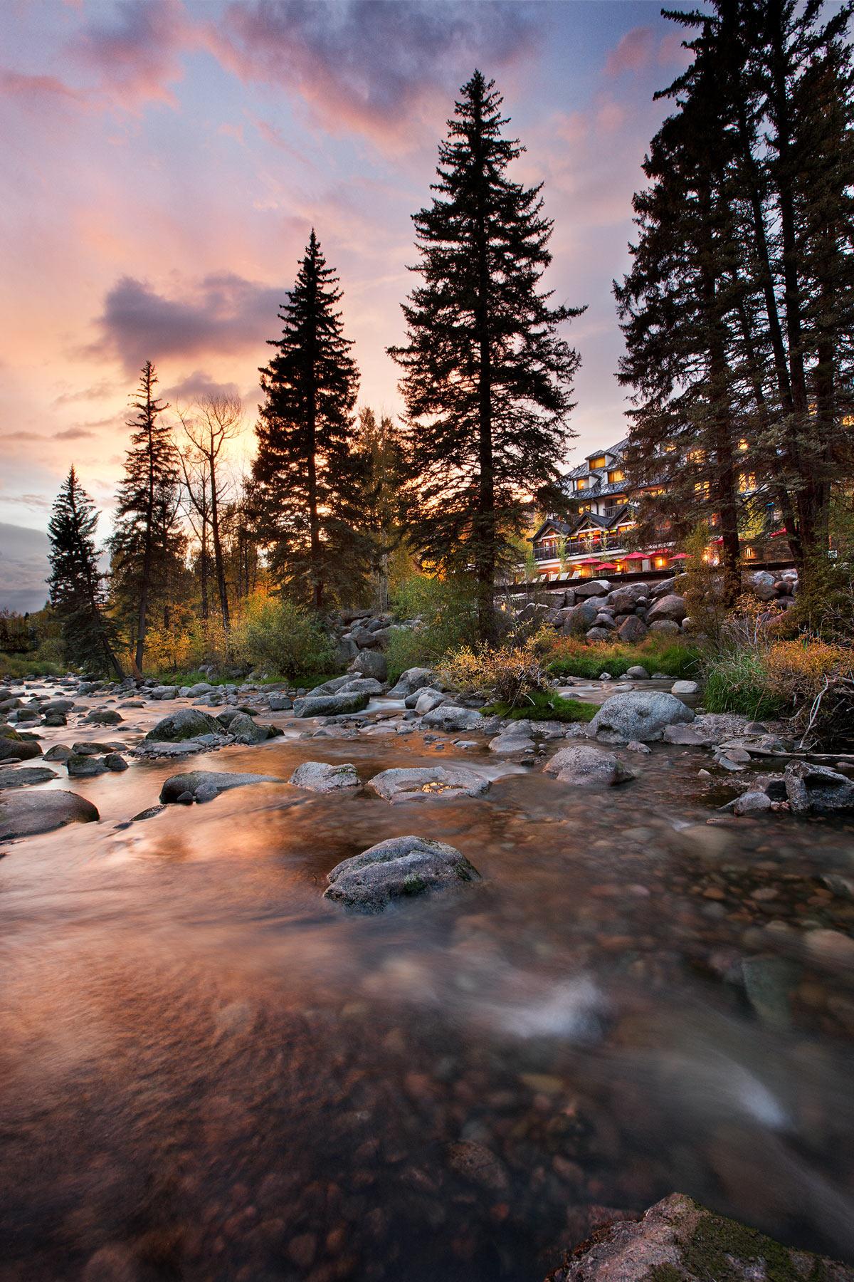 Vail Cascade Dusk on Gore Creek