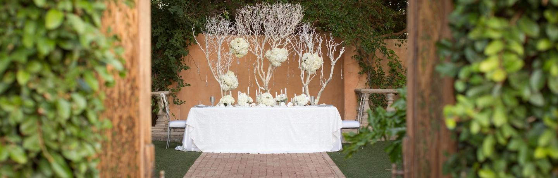 Royal Palms_wedding_Doors open Alegria Garden