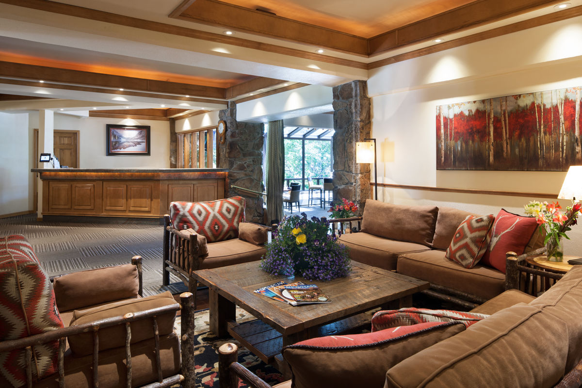 The lobby of the Stonebridge Inn, Snowmass Village, Colorado