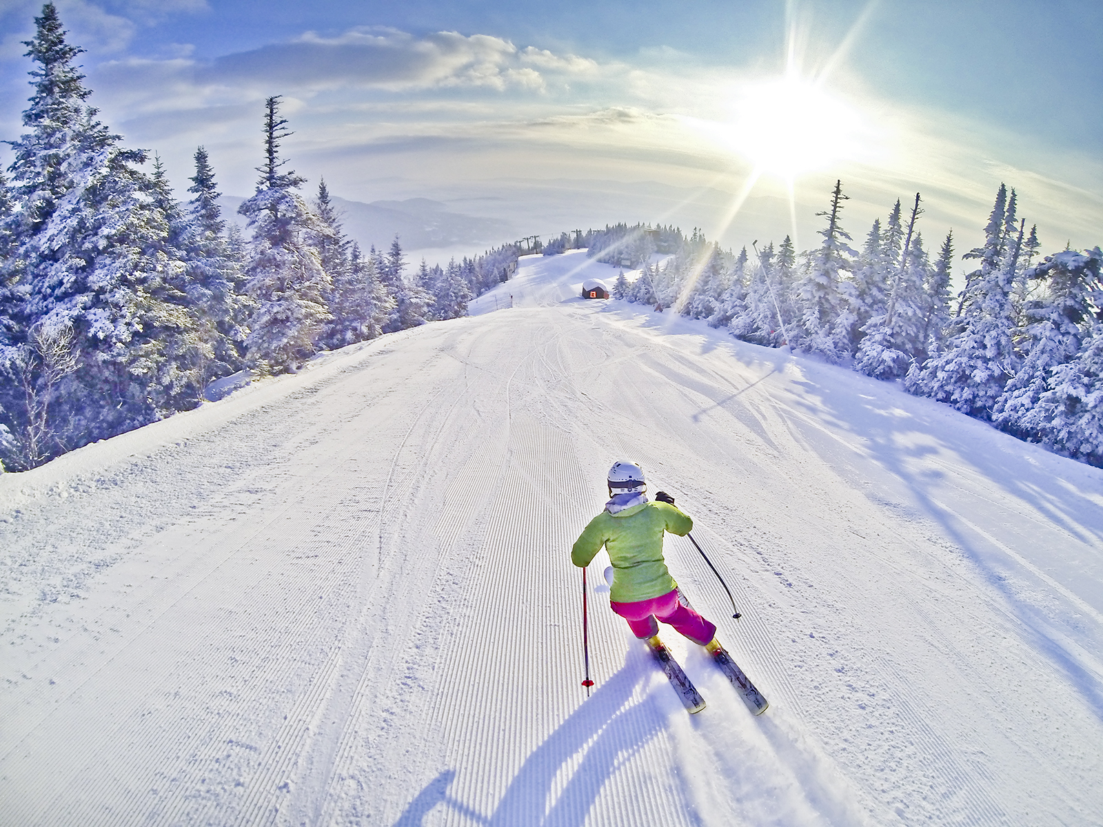 Downhill Skiing in Stowe, VT