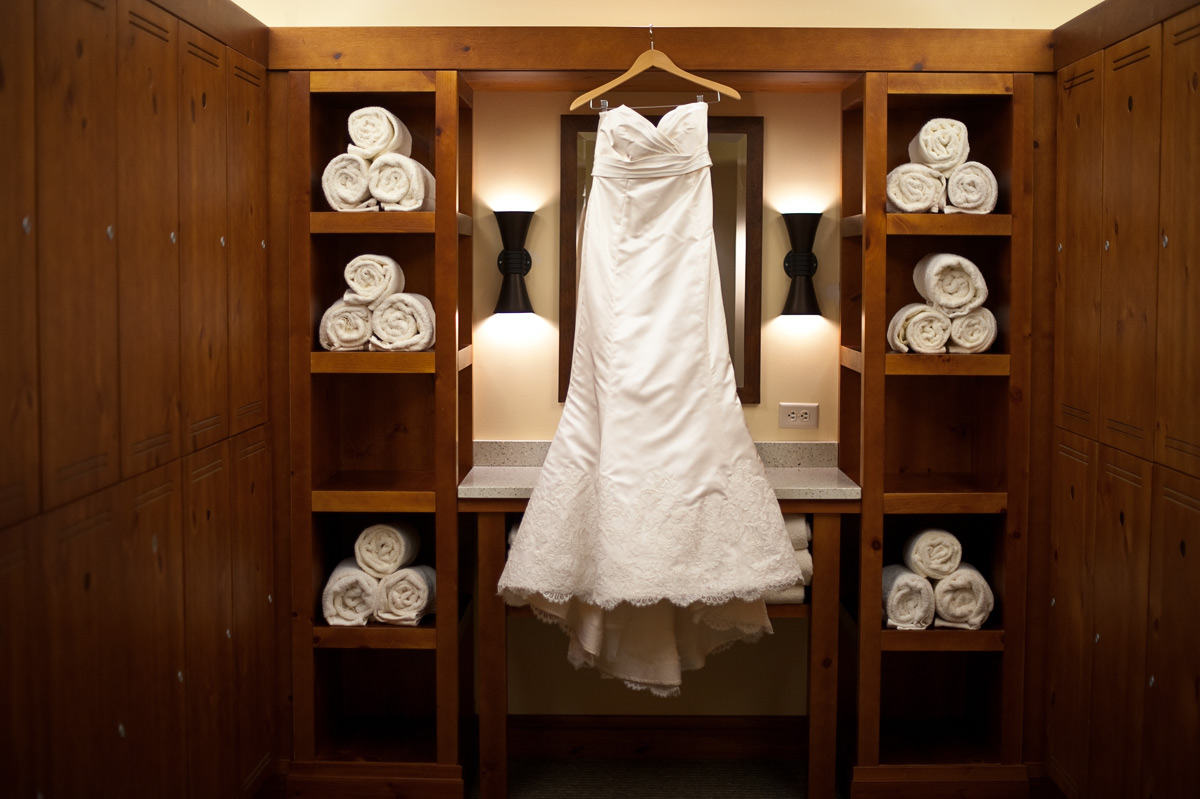 Wedding Dress at Stowe Mountain Lodge