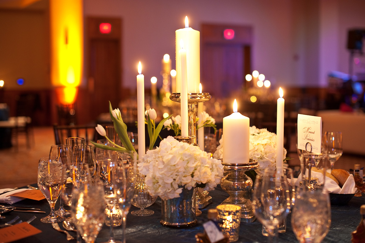 Event table setting at Stowe Mountain Lodge