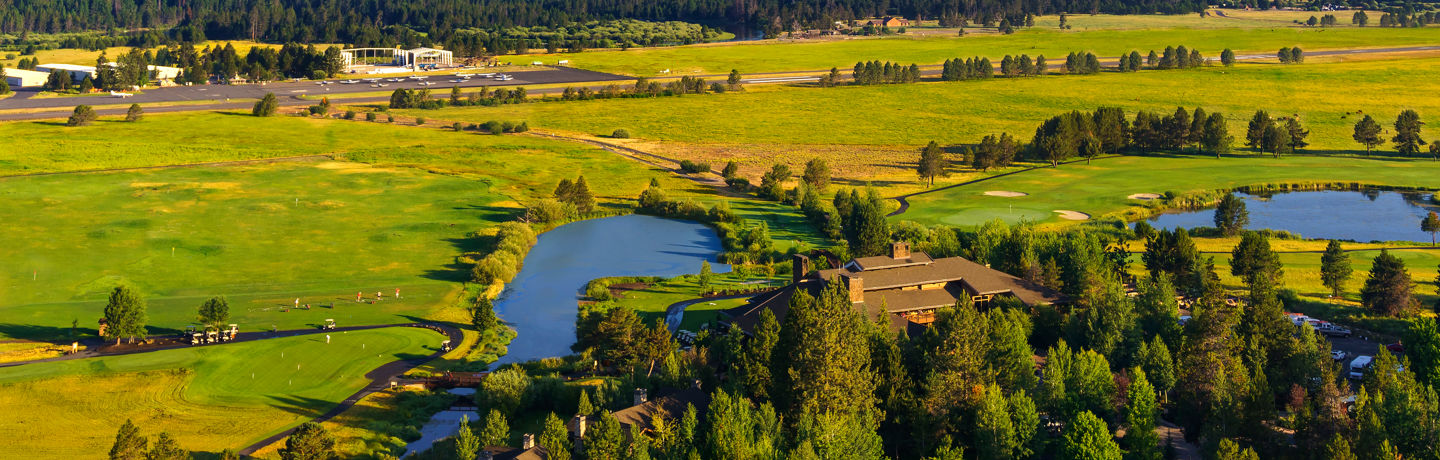 aerial view of sunriver resort