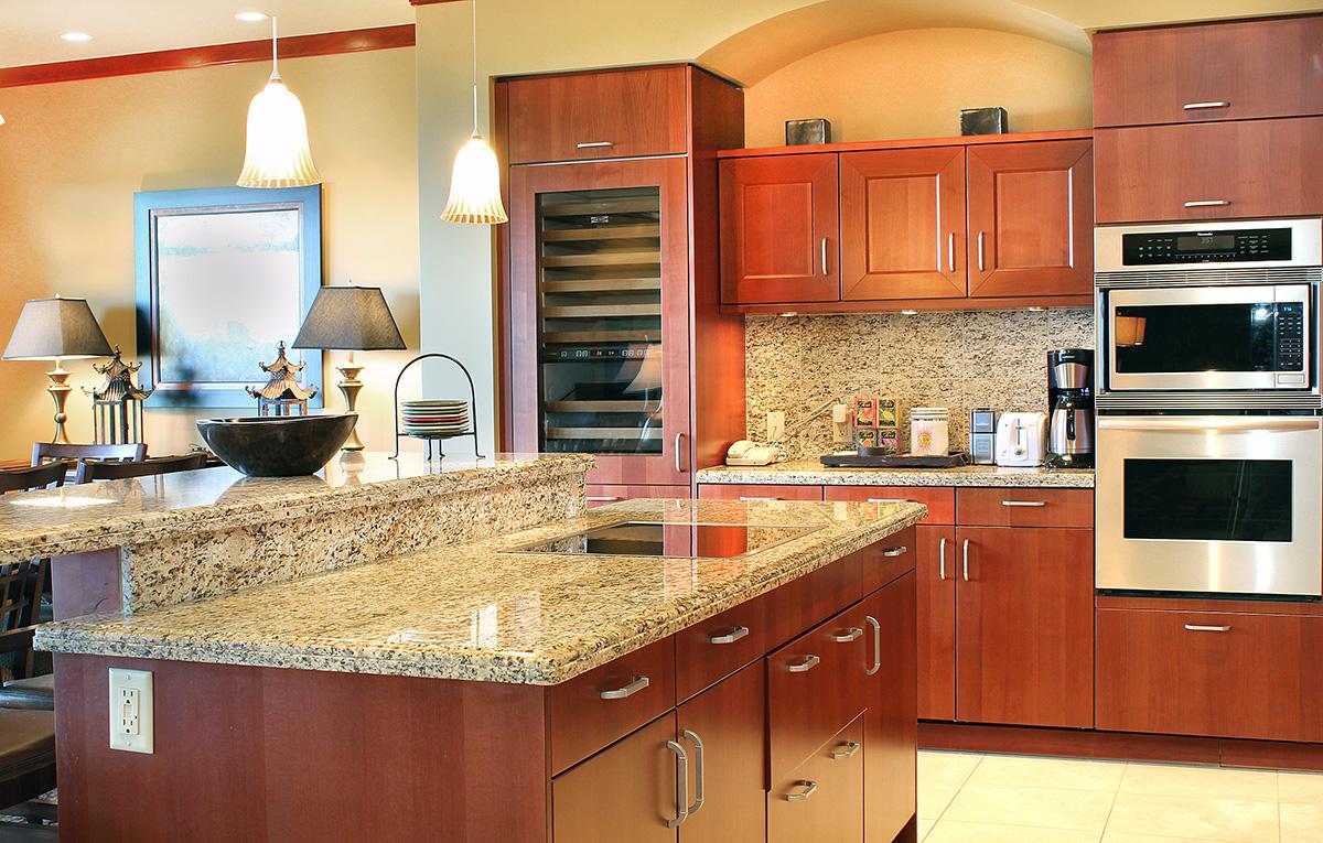 Penthouse kitchen at Wailea Beach Villas