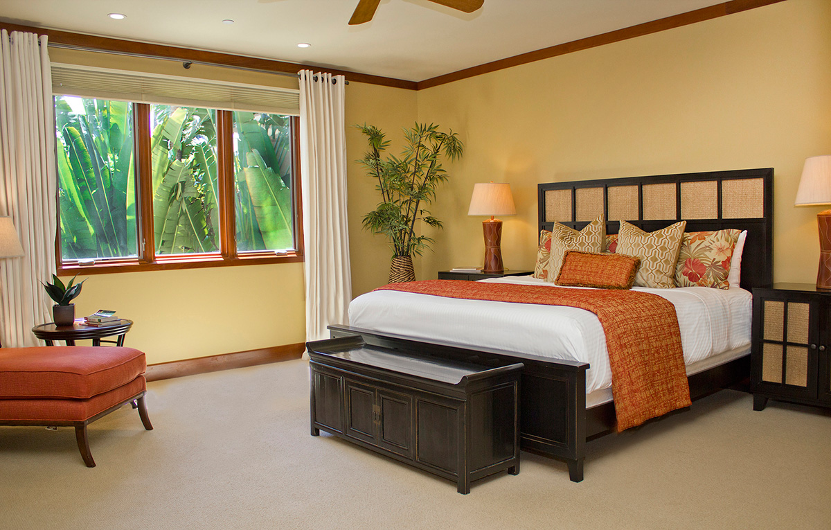 Master bedroom suite at Wailea Beach Villas