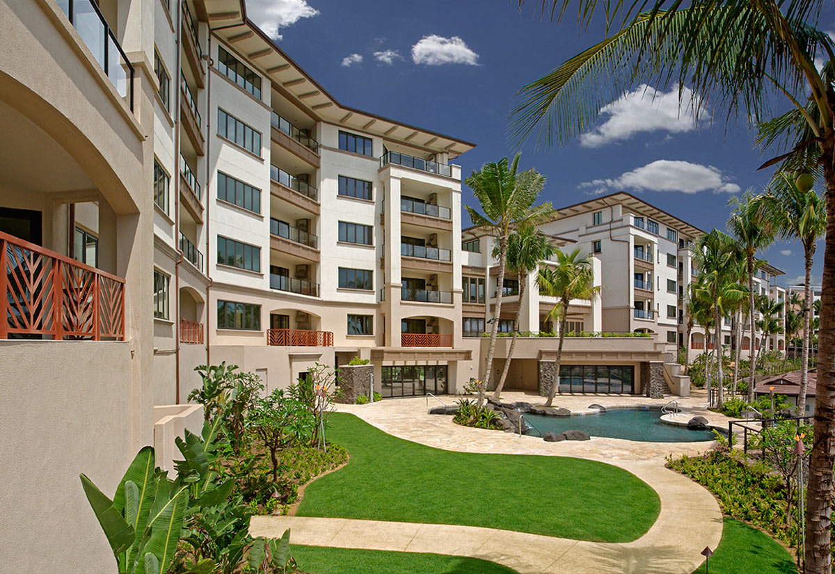Wailea Beach Villas Penthouse Building and Family Pool