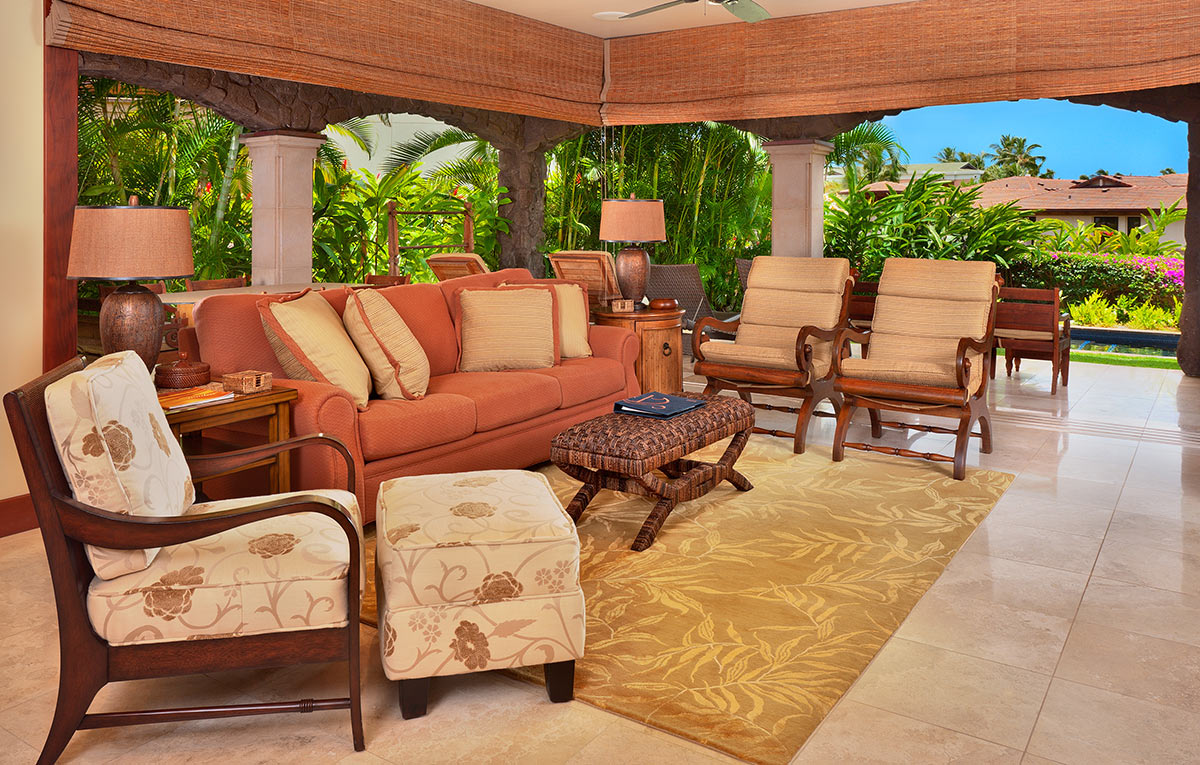 Villa living room at Wailea Beach Villas