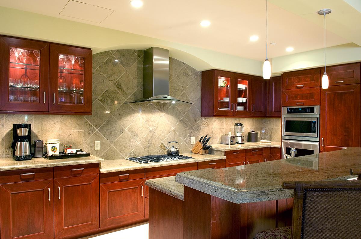 Gourmet kitchen at Wailea Beach Villas