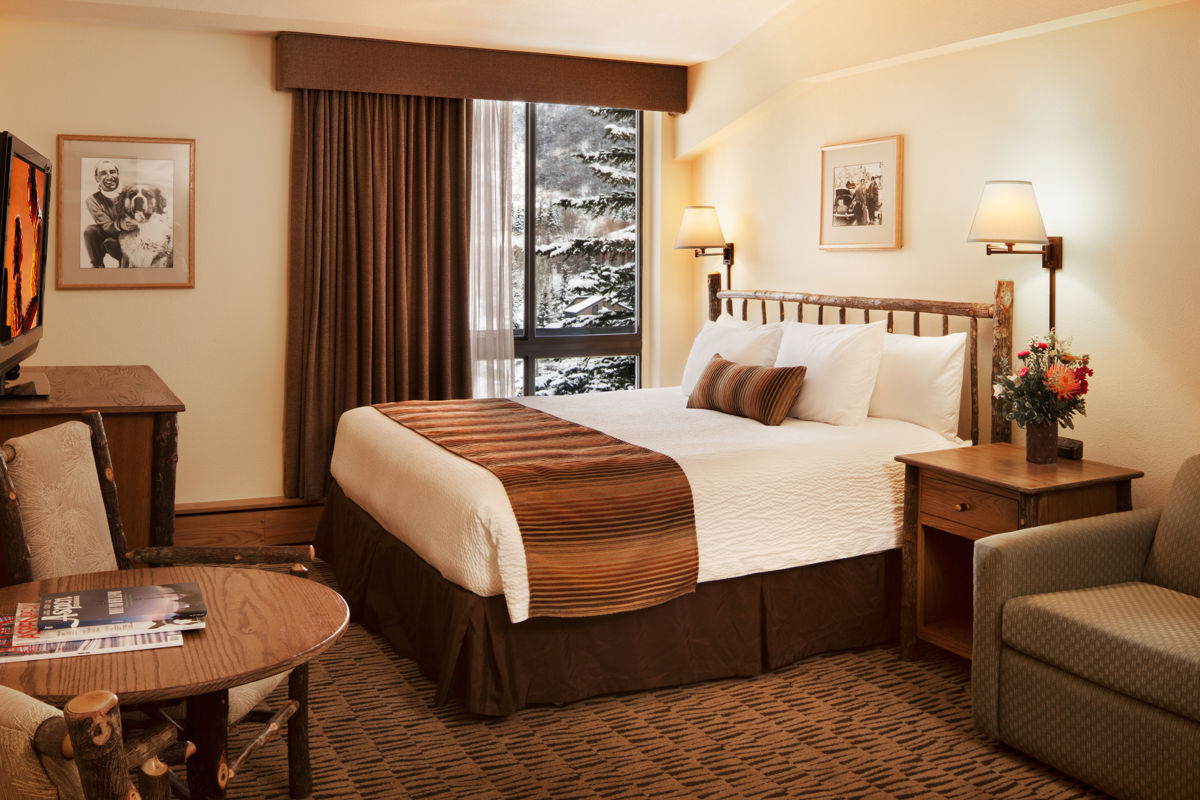 A king room at the Stonebridge Inn, Snowmass Village, Colorado