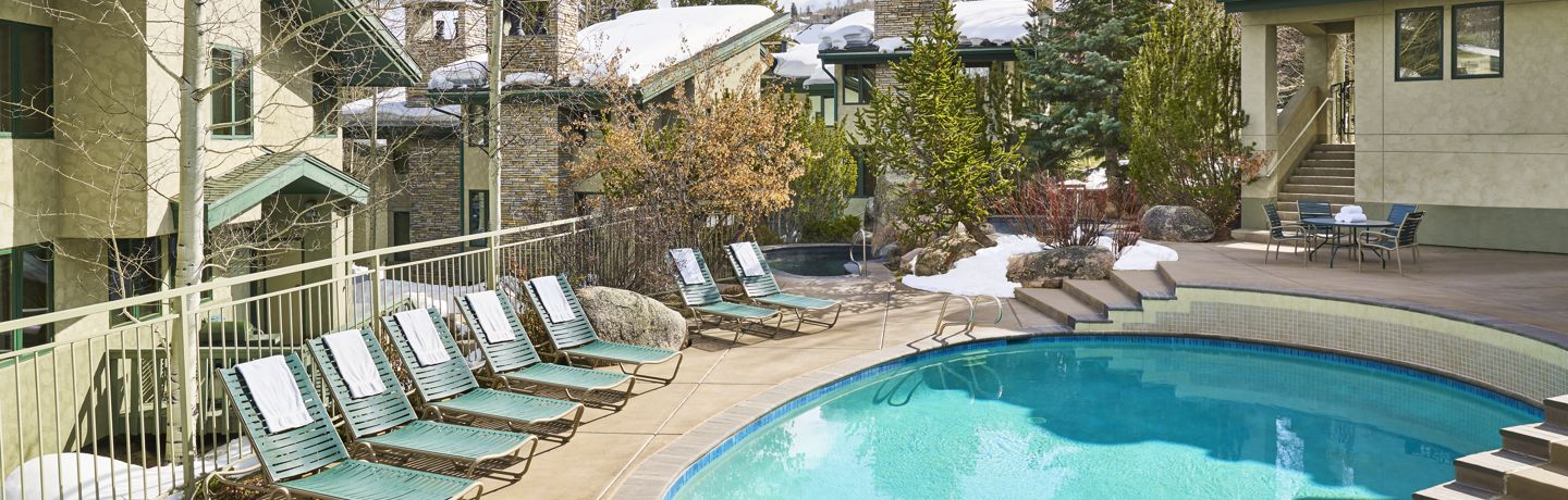 Tamarack Townhomes pool in winter