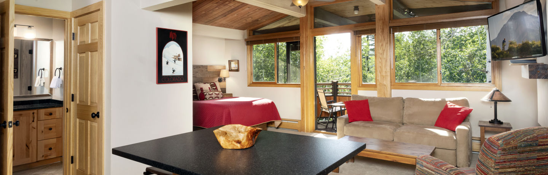 Laurelwood Studio condominiums in Snowmass Village, CO
