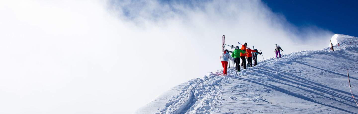 Hiking Highlands Bowl in Aspen Snowmass. Photo Credit Jeremy Swanson.