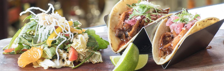 Smoked Pork Tacos at The Artisan, inside the Stonebridge Inn in Snowmass Village, CO
