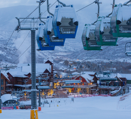 Required photo credit Jeremy Swanson. Base Village, Snowmass, Colorado