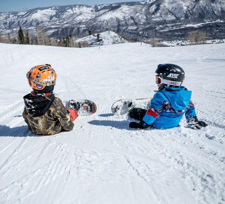 Groms taking a break at Aspen Snowmass