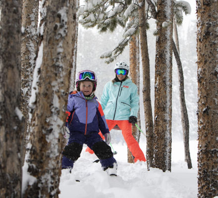 Skiing the trees in Aspen Snowmass