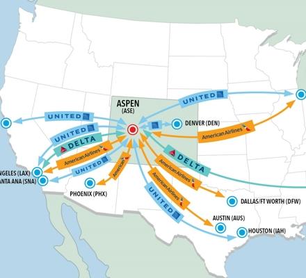 Flight map of ASE Winter 2021 2022