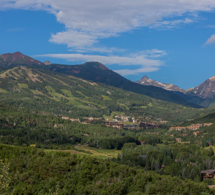 Summer Aerial Shot Of Snowmass Mountains