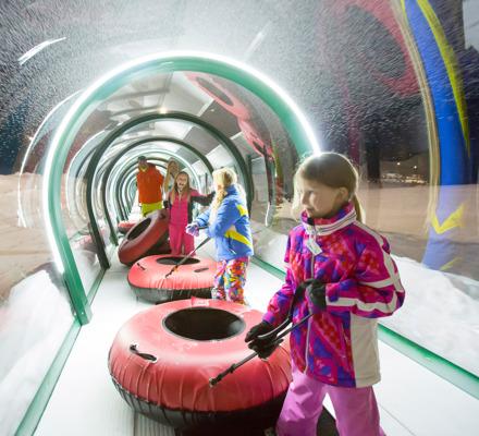 Kids Pulling Tubes