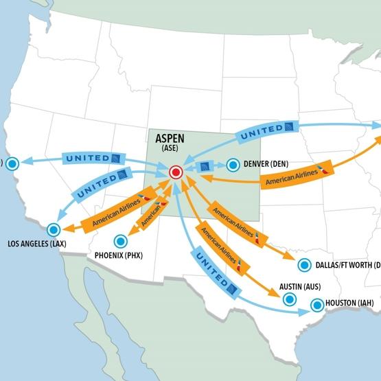 New direct flights into Aspen Snowmass