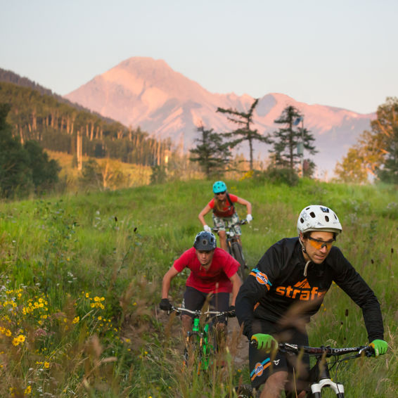 Friends in the Snowmass Bike Park