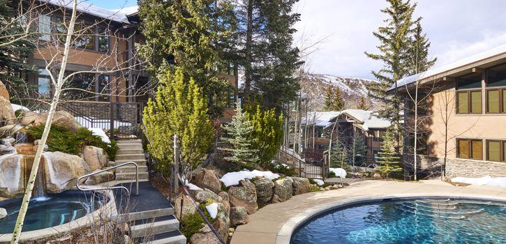Aspenwood pool in winter
