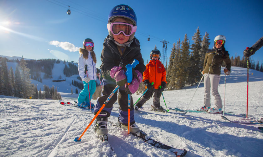 Families love skiing in Aspen Snowmass