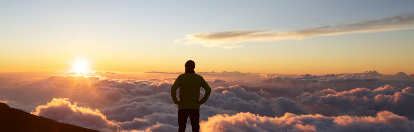 Man Above the Clouds At Haleakala