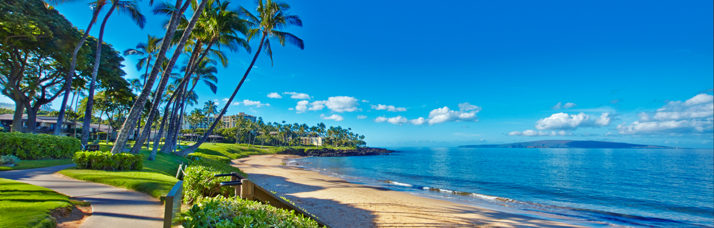 Wailea Beach with Walkway
