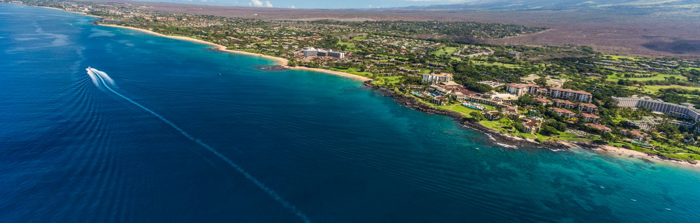 Aerial View of Wailea Resort Area